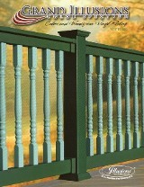 Grand Illusions vinyl fence brochure. Has all the colors available in the Grand Illusions Landscape and Estate series as well as the wood grain finishes in the WoodBond line.