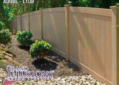 Grand illusions V300-6 T&G privacy fence in Grand illusions AdobeL108