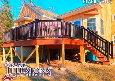 Grand Illusions Color Vinyl deck railing offers every part necessary for a safe installation in matching color.