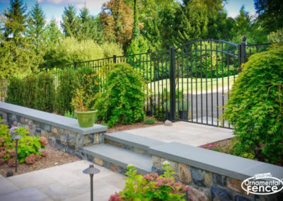 An Eastern Ornamental Aluminum Style EO54200 BOCA Code Compliant Accent gate