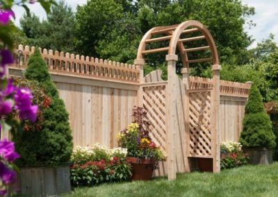 Arbors are available as arbor arch only or complete with side panels (diagonal OR square lattice) in widths of 36, 42, 48, 60, 72 and 96 inches.