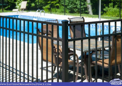 Eastern Ornament Aluminum EO54202 54 inch BOCA Code Fence. This style, pickets that extend full height of the panel, is by far the most popular style of pool fence regardless of the manufacturer.