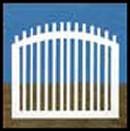 Illusions Vinyl Gate Styles - Classic Victorian Picket Fence Gate