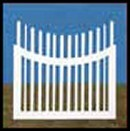 Illusions Vinyl Gate Styles - Victorian Picket Fence Gate