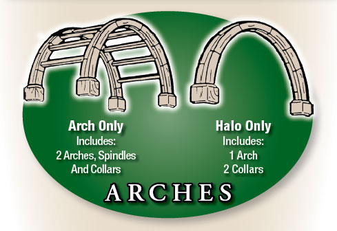 Arbor arches and Halos can be purchased alone - you don't need to but the whole kit.