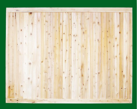 Eastern White Cedar one piece T&G Cedar privacy panel. As shown or you may choose any topper that the installer must add on site.