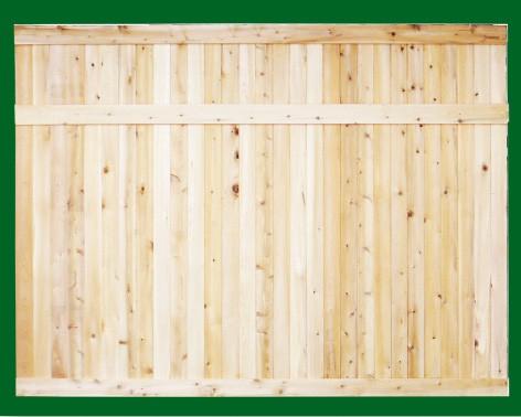Eastern White Cedar one piece T&G Cedar privacy panels