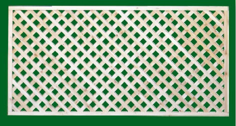 Eastern White Cedar Lattice Panel with diagonal lattice