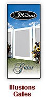 Illusions Vinyl Fence Trifold Gate styles brochure