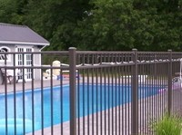 OnGuard Aluminum Pool Fence Starling Style is a 3 rail 54 inch BOCA Pool Code compliant fence