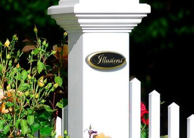 Illusions Majestic vinyl fence posts have the same wall thickness as a 5x5 'Gorilla' (gate) post.