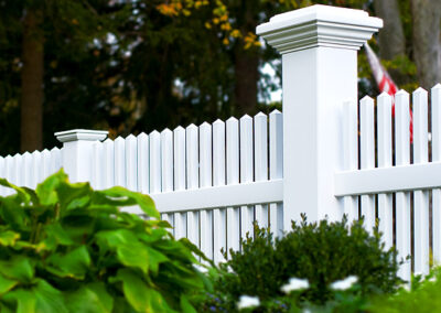8x8 Majestic posts by Illusions Viny fence can be used as line, end, corner or gate posts.