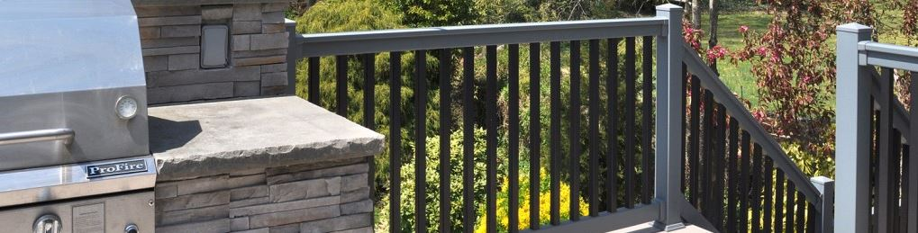 Illusions vinyl railing makes your deck safe. That's the way home should be!