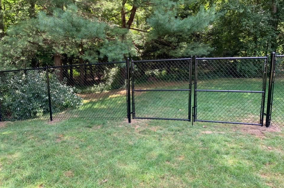 Chain link gates are available to fit any opening at any height, color or diameter pipe you want!